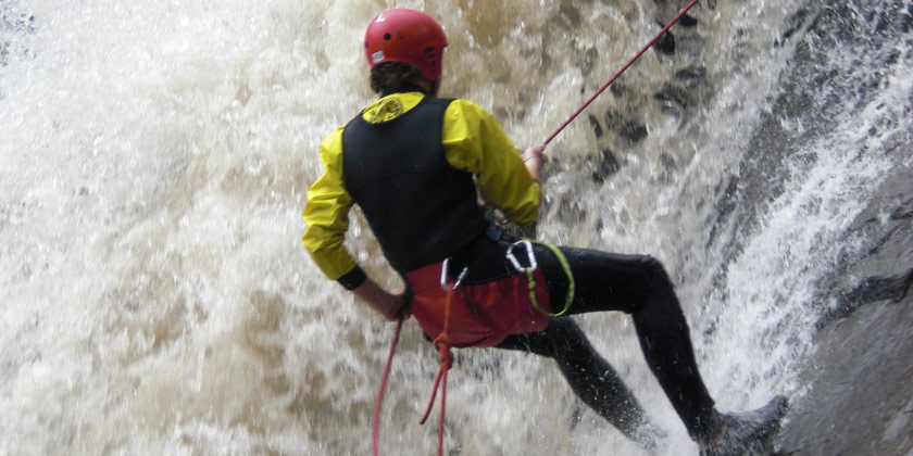 Canyoning is one of the best outdoors experiences you must do in Baños Ecuador