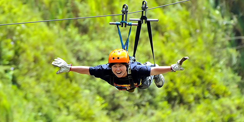 Zip lining tours or also known as canopy is about 2000 kms located in Puntzan