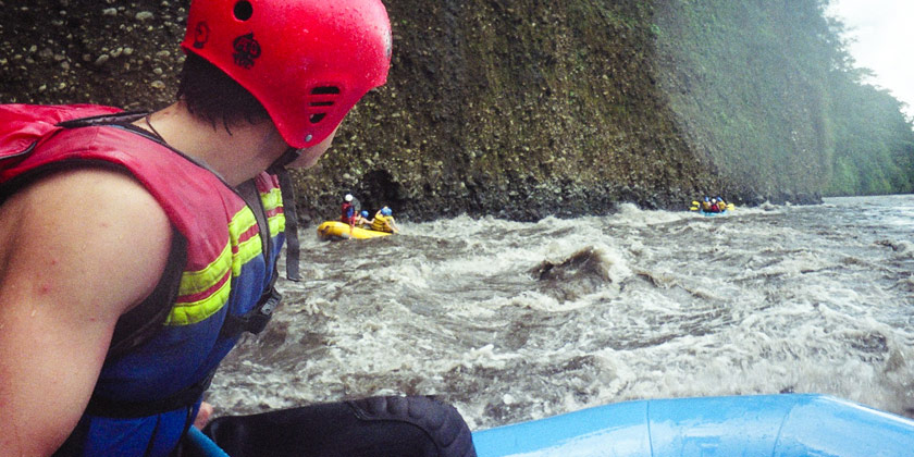 The rafting tour comes with lunch included, is and adrenaline rush for you and your friends in Baños Ecuador