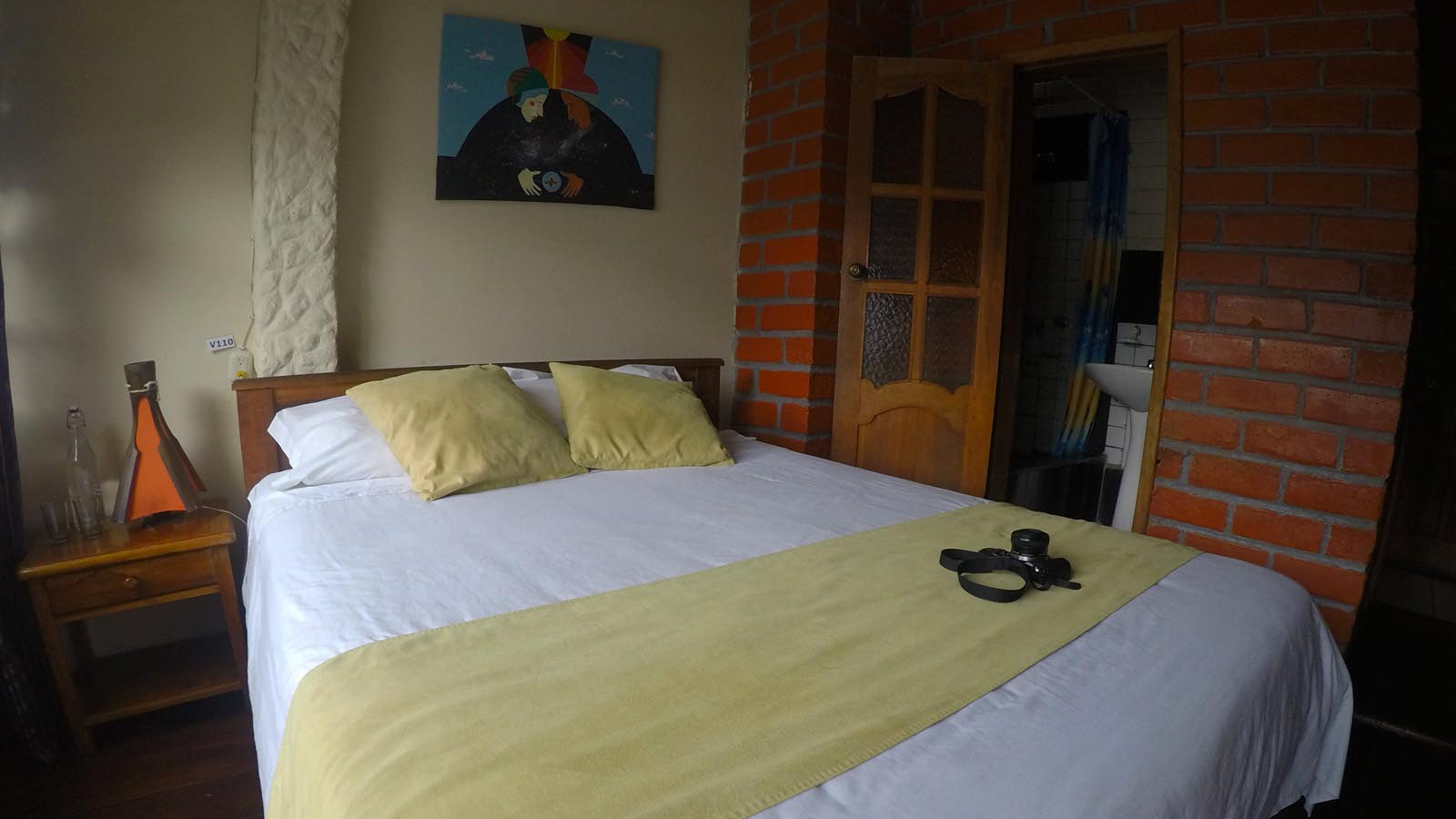 Backpackers hostel with private bathroom in Baños Ecuador